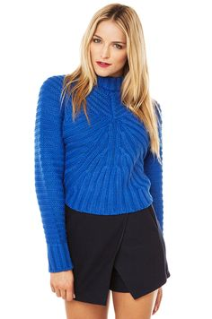 Joa Cableknit Sweater   Royal Blue Sweater   Sweaters & Cardigans