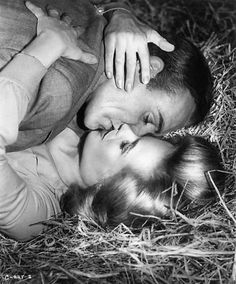 Sean Connery and Honor Blackman in 'Goldfinger',1964.