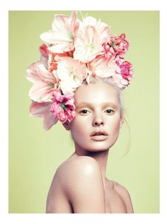 ❀ Flower Maiden Fantasy ❀ beautiful photography of women and flowers - Paige Reifler by Stockton Johnson for Elle Vietnam April 2014 1