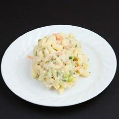 """Grandma Bellows' Lemony Shrimp Macaroni Salad with Herbs 