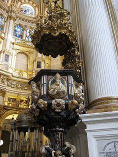 granada cathedr, church pulpit