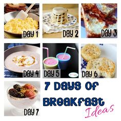 7 Days of Breakfast Ideas