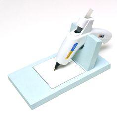 DIY Hot Glue Gun Holder #craftingessentials #hotgluegunholder #DIY
