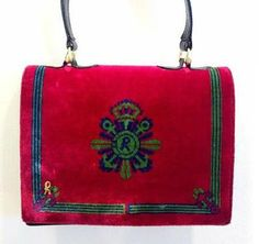 80s Vintage Roberta di Camerino velvet purse by eNdApPi on Etsy, $348.00