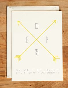 Wedding Save the Date  Arrows Straight & True by ellothere on Etsy, $2.75