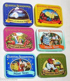 Celestial Seasonings tins
