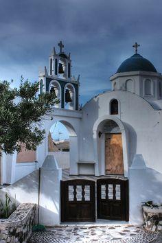 Church in Akrotiri, Santorini Greece