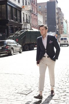 Men's Style Fashion Blog - Blue Blazer Khakis The Classic Prep School Uniform with Style | TSBmen