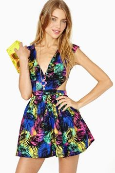 Electric Tropic Dress