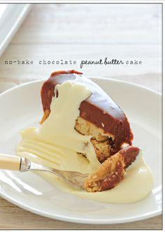 No bake peanut butter chocolate cake, for Mom!