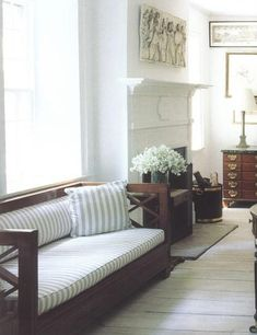 The Decorista-Domestic Bliss: office space of the day...wide open windows