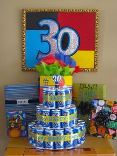Beer Can Birthday Cake #2 (Cute idea for a 21st b-day!)