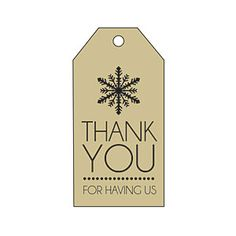 Snowflake Thank You Gift Tag from MyRecipes.com
