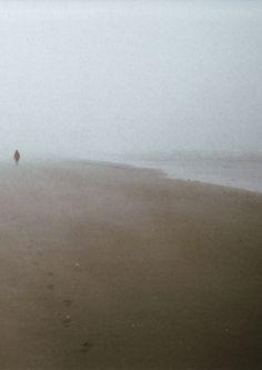 Walk along the beach during fog.. <3