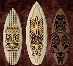Tablas de surf tribales