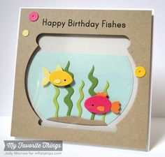 You're Fin-tastic, Fishbowl Die-namics, Sequins Die-namics - Jody Morrow #mftstamps