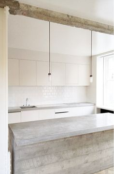 KITCHEN // concrete + white