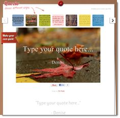 This site has good articles with lots of useful tips. This article is about site where you can create cool quotes for Pinterest to link back to your site.