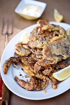 Soft-Shell Crabs with Salty Tomato Butter.
