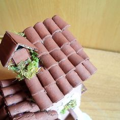 How to make miniature roof tiles out of clay