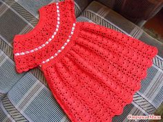 Cute red dress with diagrams