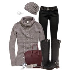 """Sweater & Beanie"" by tmlstyle on Polyvore"