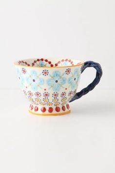 with a twist teacup / anthropologie