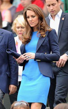 duchess of cambridge, dresses, tenni, prince william, kate middleton, blazers, olympic games, duchess kate, blues