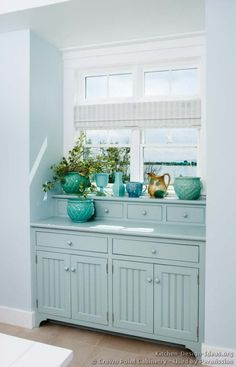 plant, cabinet door, color combos, laundry rooms, blue kitchens