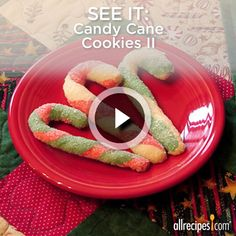 See the trick to twisting red and white cookie dough into perfect candy cane cookies. Repin to try these this Christmas.