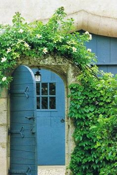 beautiful French blue door
