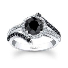 Barkev's Black Diamond Engagement Ring