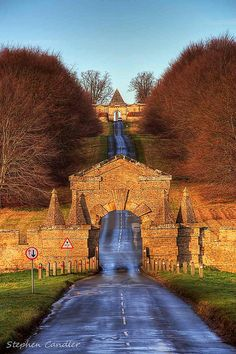 Road leading up to Castle Howard, North Yorkshire