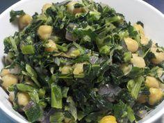 collard greens & chick peas