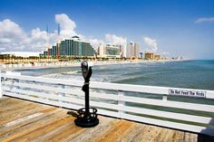 View of Daytona Beach from the Pier in Daytona Beach, Florida