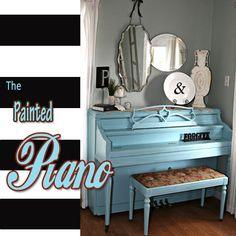 DIY painted piano via: The Pennington Point