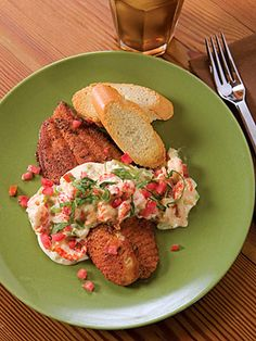 Blackened Catfish w/ Crawfish Sauce! Amazing! You can use the sauce in other recipes...toss w/pasta, top breads and more! Mmmmm! Spicy, creamy Southern deliciousness!