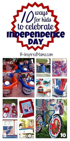 holiday, craft, juli 4th, kid independ, 4th of july, kids, independence day, celebr independ, parti