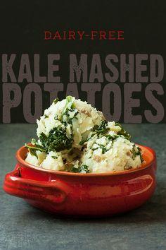 Kale Mashed Potatoes (dairy-free)
