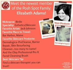 Our family is expanding! Welcome our new esthetician and skincare genius, Elizabeth Adams! She's serious about the health of your skin and even holds thousands of hours of training from the International Dermal Institute (think: Dermalogica)! Check out her magic hands on Tuesdays and Fridays here at The Posh Spot! #Skincare #spa #facials #atlantaspa