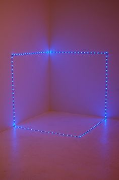 "Saatchi Online Artist: Peter Hammar; Light, 2012, Sculpture ""'Time Space Cube', detail from 'this is it' installation."""