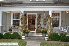 front porch design, porch swings, rocking chairs, christmas decorations, porch idea, christmas decorating ideas, vintage homes, fall porches, front porches