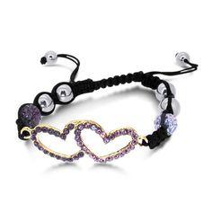 Black Laced Shamballa Bracelet with L... (bestseller)