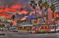 Casablanca's Cafe is across the street from Fort Lauderdale Beach.  Enjoy dinner and drinks while watching the waves crash and feeling the ocean breeze.  A local favorite!