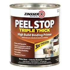 Seal cracked surfaces and lock down peeling paint with Peel Stop Triple Thick High Buildng Binding Primer paint. High-performance, water-based formula.