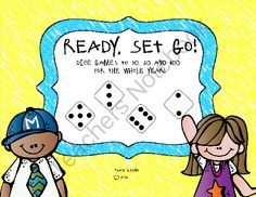 Ready, Set, Go Giveaway!! Enter for your chance to win 1 of 2.  Ready, Set, Go! (30 pages) from Lovin' Kinder on TeachersNotebook.com (Ends on on 11-1-2014)  Enter to win this year-long set of games!  Games include Race to 30, Race to 50 and Race to 100!  My Kinders *love* playing these games and they are reinforcing their numbers and one-to-one correspondence at the same time!