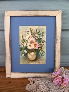 Upcycled Innocent Ivory Wooden Picture Frame  by TimelessNchic, $29.95 #oilpainting #shabby #victorian #upcycled #pictureframe #homedecor #cottage #farmhouse #chic