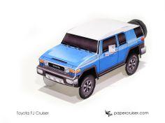 Simple FJ Cruiser Paper model | http://papercruiser.com/downloads/toyota-fj-cruiser-simple/