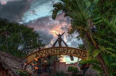 """Sunset Over Adventureland"" #Disneyland from Kevin Crone at www.toursdepartingdaily.com - #toursdepartingdaily #disney"