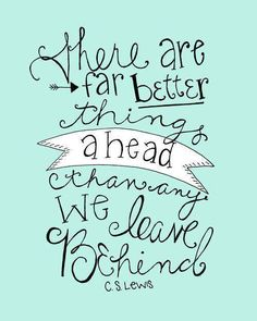 Better things ahead.